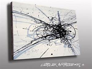 Peinture En Noir Et Blanc : tableau abstrait noir et blanc recherche google id e peinture art sketches et wall art ~ Melissatoandfro.com Idées de Décoration
