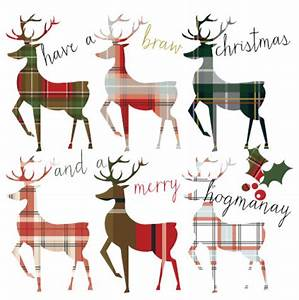 Tartan Stags Christmas Card