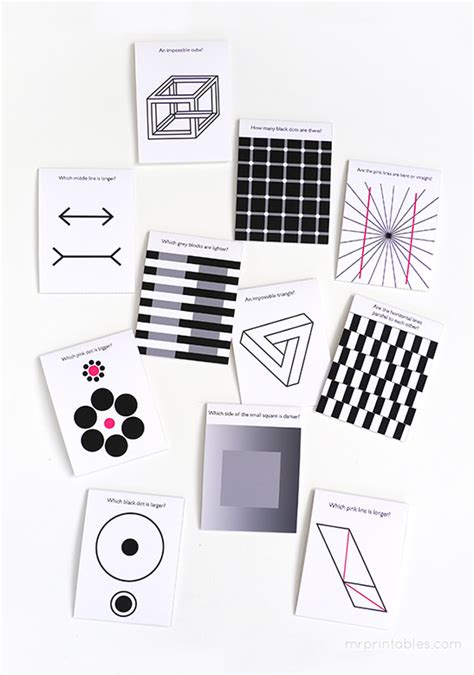 optical illusion lunch box notes  printables