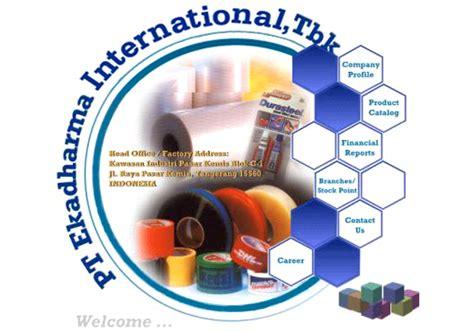 lowongan kerja pt ekadharma international tbk