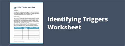 printable indentifying anger triggers worksheet