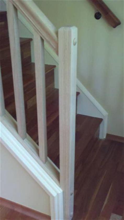 How To Install A Stair Banister by Stairway Railing Trim Basic Question Doityourself