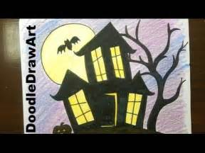 Easy Drawings to Draw Haunted House