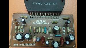 How To Make Stk Amplifier  Stk 4141 Circuit Diagram  Stk
