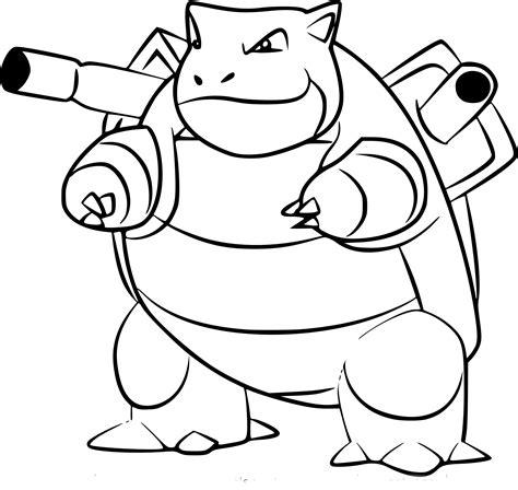 Coloriage Tortank Pokemon Go à Imprimer