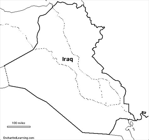 Outline Map Research Activity 3 Iraq