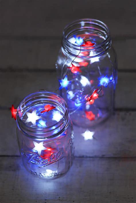 everlasting glow red white blue star shaped led mini