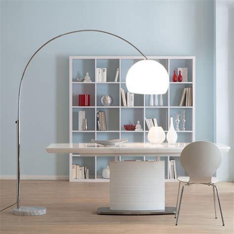 Bogenlampe LOUNGE DEAL II Stehleuchte, chrom ~ weiß, 180cm