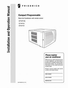 Friedrich Cp24f30 Air Conditioner User Manual