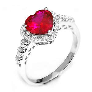 3ct pigeon blood red ruby engagement ring 925 sterling