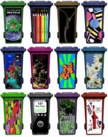 funny painted garbage bins garbage bins pinterest With best brand of paint for kitchen cabinets with recycle sticker for trash can
