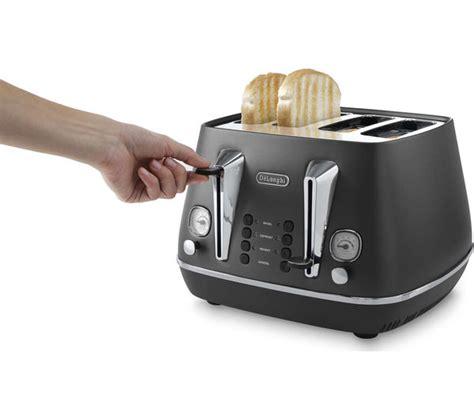 delonghi 4 slice toaster buy delonghi distinta cti4003 bk 4 slice toaster black