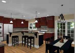 L Shaped Kitchen Island Designs Different Island Shapes For Kitchen Designs And Remodeling