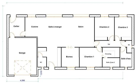 plan maison plain pied 100m2 3 chambres with plan maison plain pied 100m2 3 chambres