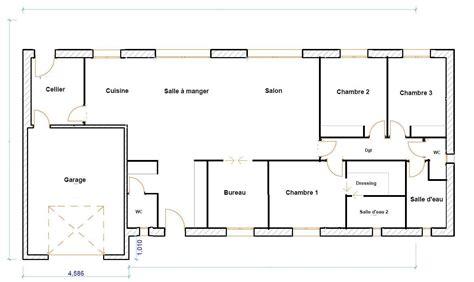 plan de maison 3 chambres plain pied plan maison plain pied 120m2 28 images plan maison