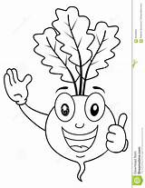 Beet Coloring Character Cartoon Funny Colouring Background Illustration Vector sketch template