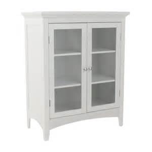 Elegant Home Fashions Wilshire 26 in. W x 32 in. H x 13 in. D 2-Door Bathroom Linen Storage Floor Cabinet in White, White