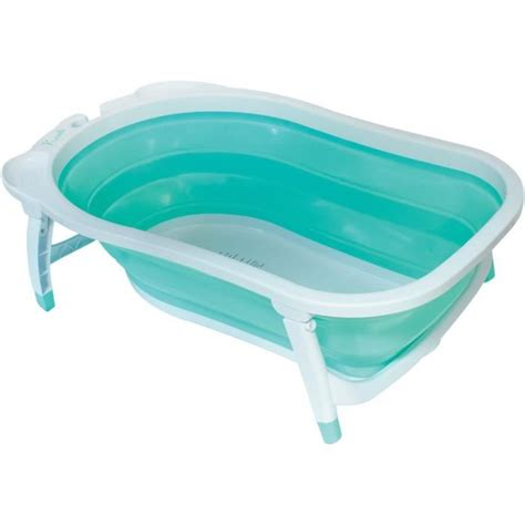 baignoire de pour bebe baby sun baignoire pliable vert d eau achat vente baignoire 3159921207726 cdiscount