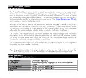 Project Reports Templates by 14 Project Report Templates Free Sle Exle