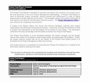 22 project report templates pdf doc free premium With project management final report template
