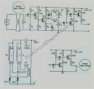 Standard Tube Lamp Disco Light Strobo Circuit