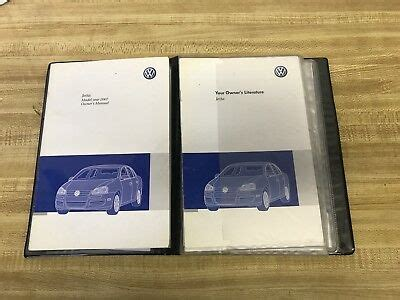 volkswagen jetta owners manual ebay