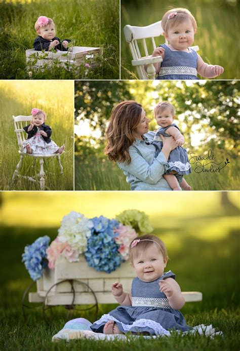 baby photography kansas city  month  spring family