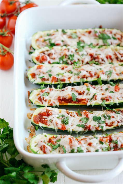 Zucchini Boats No Meat by Enchilada Stuffed Zucchini Boats Eat Yourself Skinny