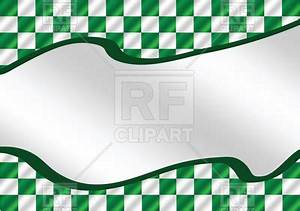 Racing flag - green checkered wavy background Vector Image ...