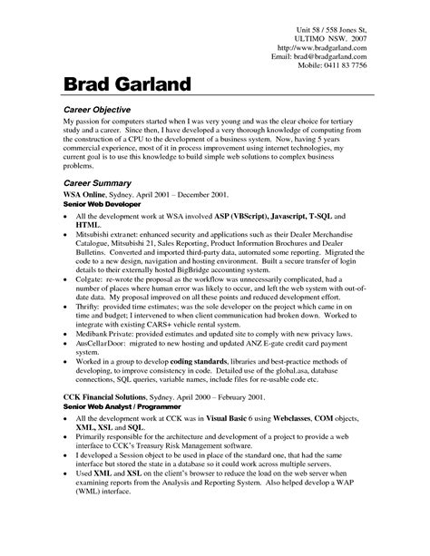 Objective On Resume by Resume Objectives Exles Best Templateresume Objective