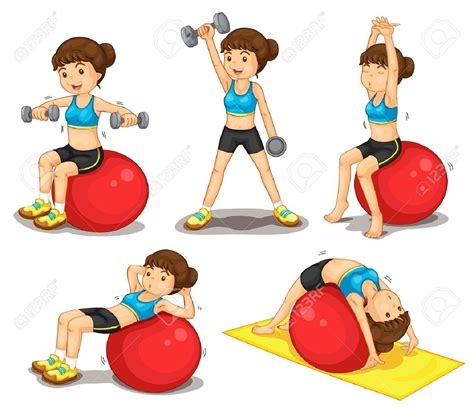 girl exercising clipart clipground