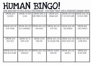 printable pdf human bingo game ice breaker by With human bingo template