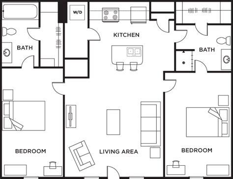 2 bed 2 bath floor plans 2 bedroom 2 bath floor plans gurus floor