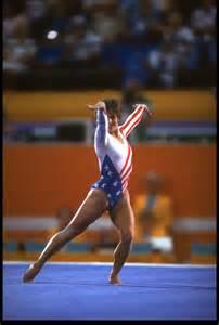 lou retton floor routine in history olympic gymnist lou retton retires