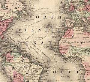 Old World Map Atlas Vintage World Map 1864 Mercator ...