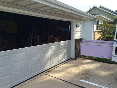 8x7 garage repair broken garage door panels same day garage door