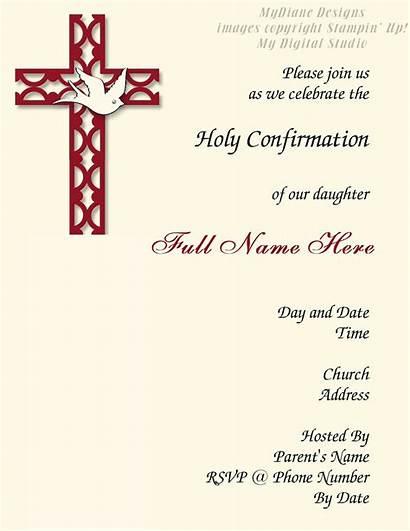 Confirmation Invitations Invitation Cards Template Religious Catholic