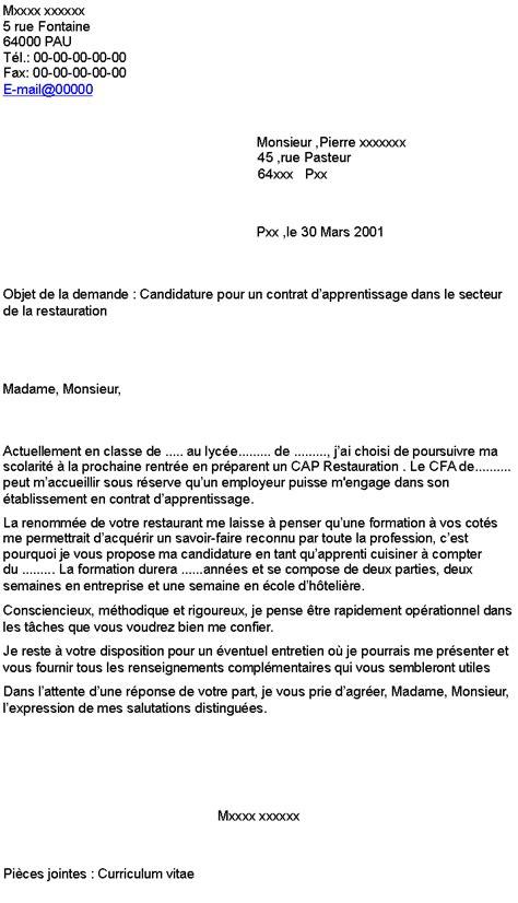 lettre rupture contrat apprentissage