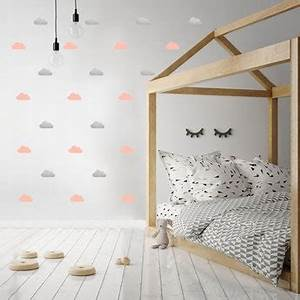 Decoration Nuage Chambre Bébé : d coration murale stickers cils pois vert les ~ Dallasstarsshop.com Idées de Décoration
