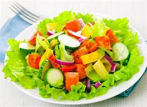 Fresh vegetable salad on plate Stock Photo Colourbox