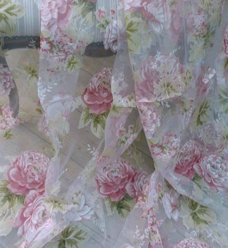 shabby chic voile curtains exquisite huge 62 quot x92 quot floaty shabby chic french rose voile curtains