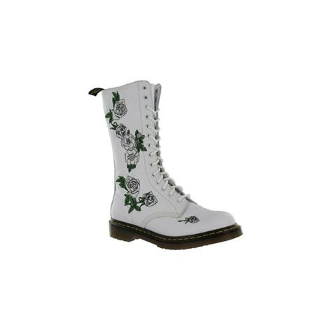 dr martens vonda womens leather boots white mid calf