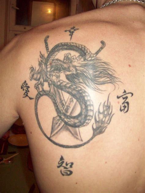 dragon shoulder blade tattoos tattoo  japanese dragon