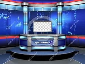 Sport Virtual TV Studio Set Blue
