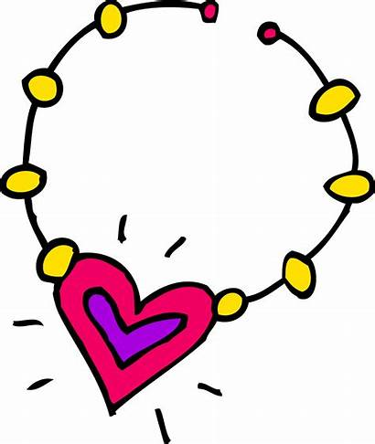 Necklace Clip Heart Clipart Sweetclipart