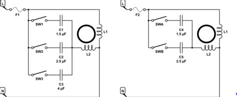 ac calculating  capacitor values  control ceiling