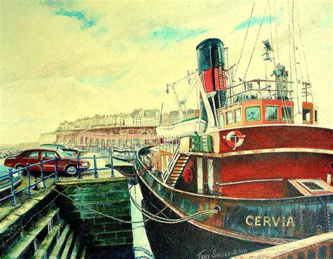 Tugboat Tony S by Tugboat Cervia At Ramsgate Harbour Painting By Tony Sussex