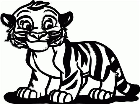 Coloring Tiger by Baby Tiger Coloring Pages Coloring Home