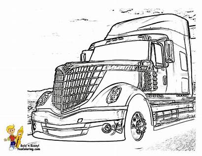Coloring Truck Pages Rig Boys Trucks Wheeler