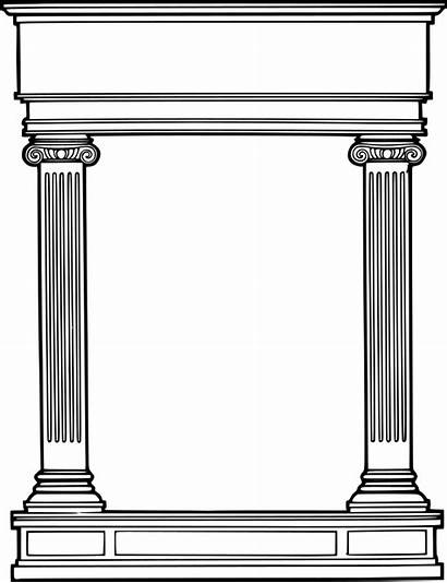 Roman Column Border Columns Clipart Rome Frame